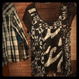 So per cute zebra print tunic